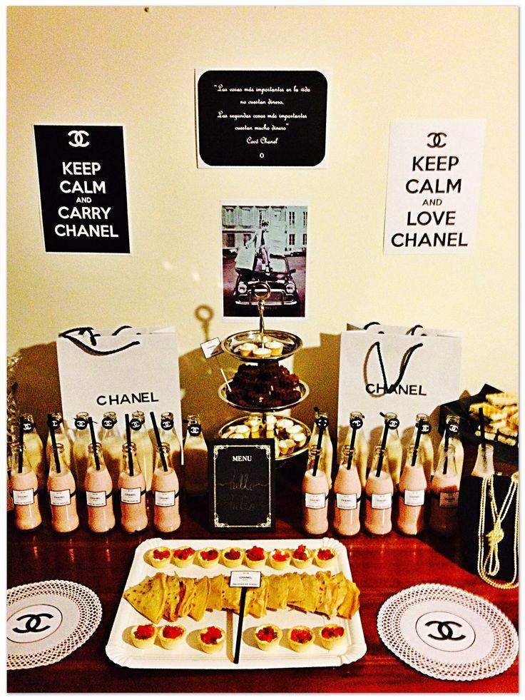 Decoración Mesa Chanel