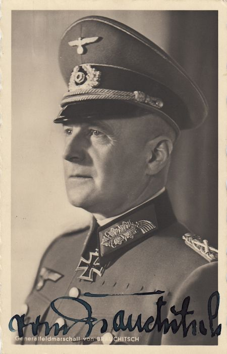Walther Von Brauchitsch German field marshal and the Commander-in-Chief of the German Army in the early years of World War II.