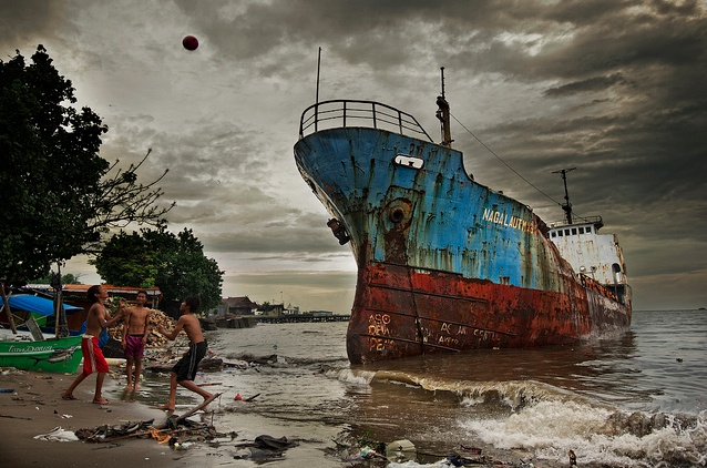 Abandoned Ship- Makassar, South Sulawesi