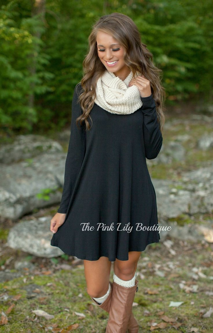 The Pink Lily Boutique - The Simple Things Black Dress , $36.00 (http://thepinklilyboutique.com/the-simple-things-black-dress/)