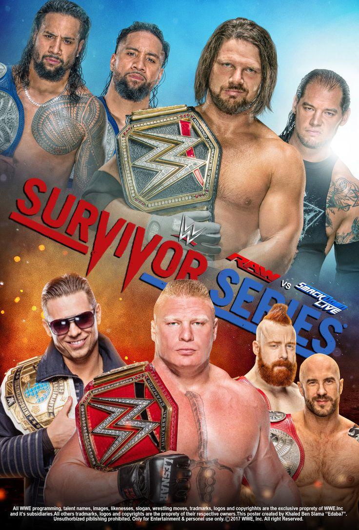 WWE Survivor Series 2017 Poster V2 by edaba7.deviantart.com on @DeviantArt