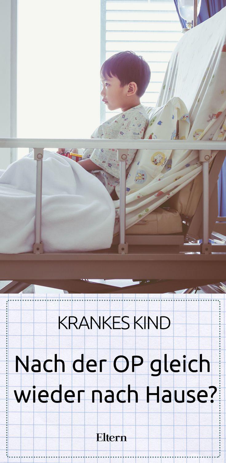 Leistenbruch, Polypen, Ohrprobleme – manchmal kommen schon kleine Kinder um eine Operation nicht herum. Was ist dann besser: ambulant operieren oder mit dem Kind im Krankenhaus bleiben?