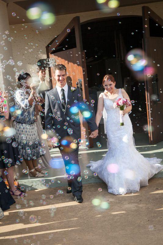 Confetti and bubbles