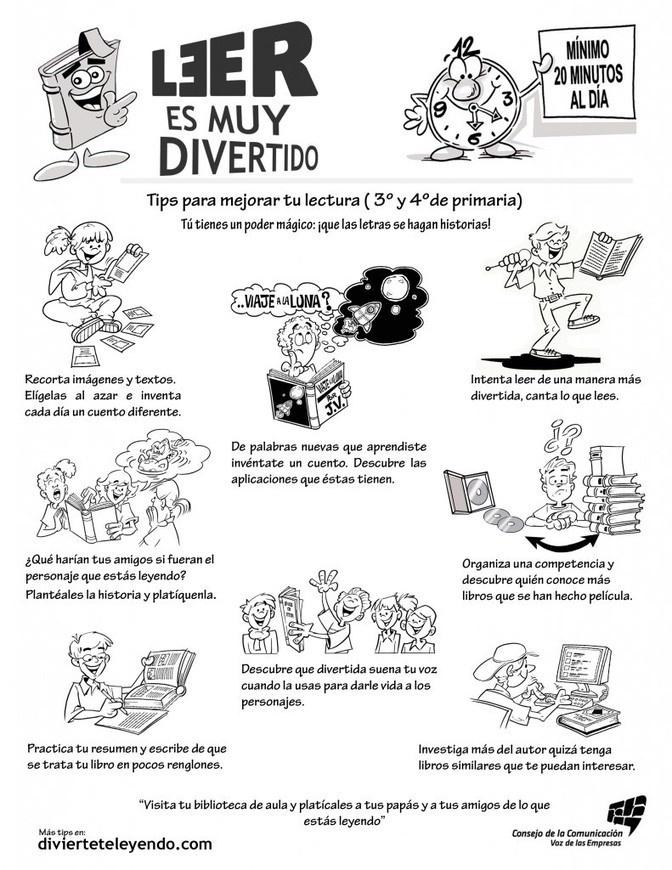 Tips para mejorar tu lectura ( 3° y 4° de primaria )