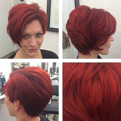 27 Flaming Hot Pixie for Thick Hair