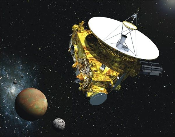 """After getting halfway to its next target, New Horizons entered a well-deserved hibernation on April 7. New Horizons was launched in January 2006 and headed to explore Pluto. Between the last hibernation and entering its current hibernation, New Horizons had been """"awake"""" for 852 days for the Pluto fly by and the 16 months following to send data back to Earth.  Now the spacecraft is on its way to the Kuiper Belt to study Kuiper Belt Object 2014 MU69 in January 2019."""