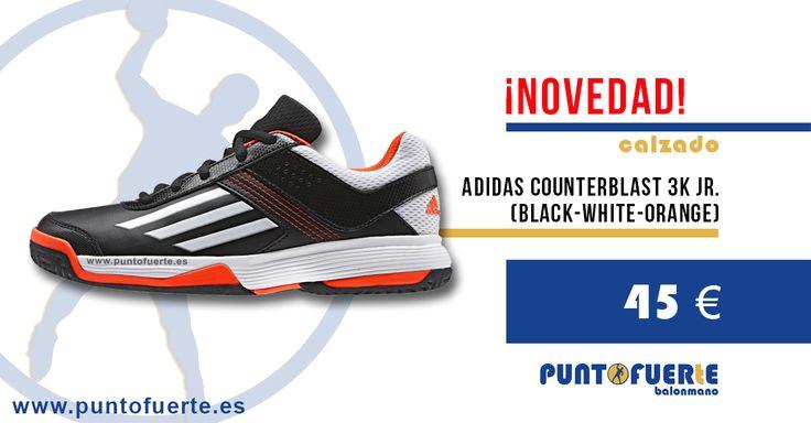¡NOVEDAD! Zapatillas Adidas Counterblast 3K Junior (Black/White/Orange) http://www.puntofuerte.es/es/zapatillas-balonmano/1461-adidas-counterblast-3k-negras.html Agarre, amortiguación, comodidad, diseño y buen precio. Un calzado muy completo para tu hijo #zapatillas #Adidas #balonmano #handball Más información: www.puntofuerte.es