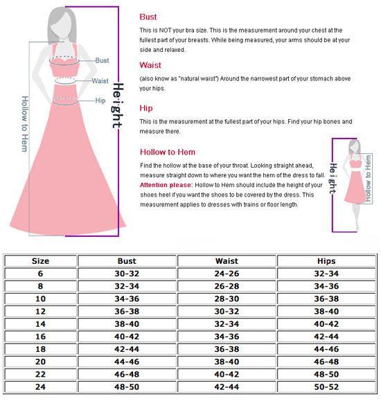 Dress Sizes Chart For Women