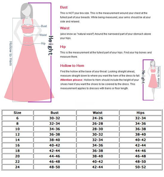 Creative Women39s Clothing  Dress Size Chart
