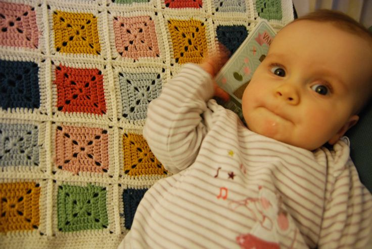 Crochet baby blanket: http://www.veritas.be/be_nl/content/babydekentje-0, made by daughter's godmother and grandmother