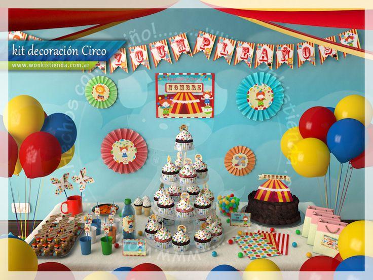 fiesta de circo wonkis tarjetas para imprimir de circo