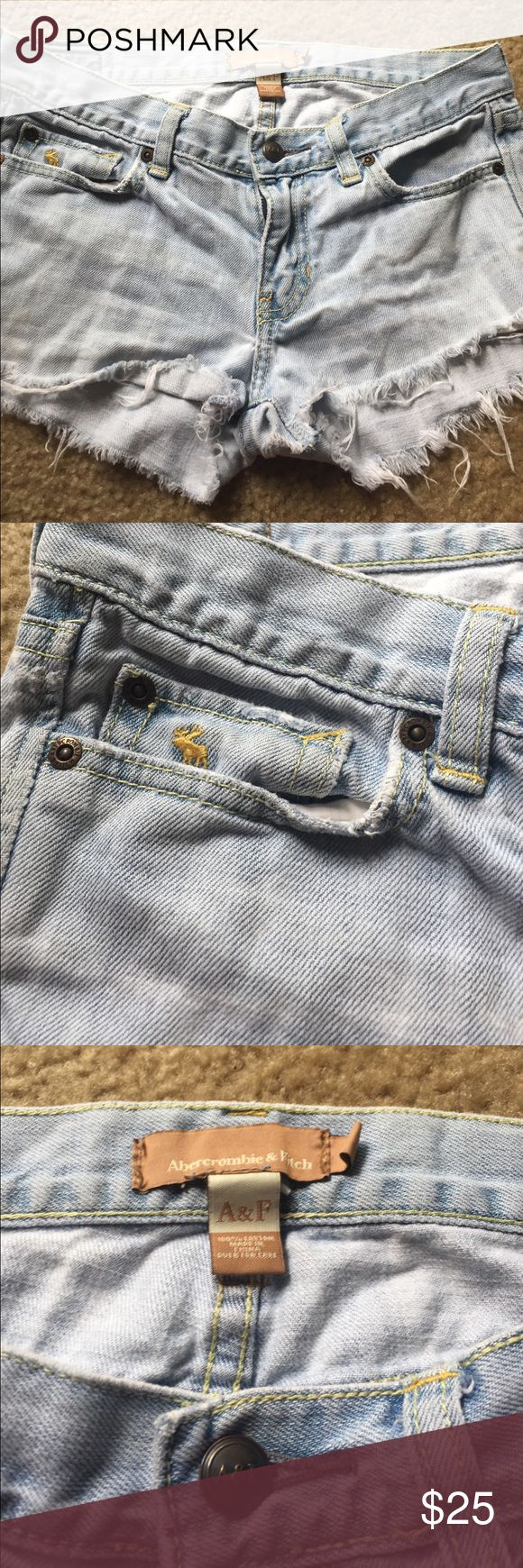 Abercrombie and fitch jean shorts Size 2 Abercrombie and fitch jean shorts. Light wash, distressed Abercrombie & Fitch Shorts Jean Shorts