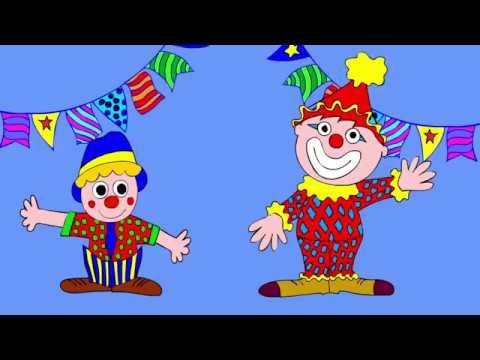 The Circus with clowns, song for kids, children, toddlers
