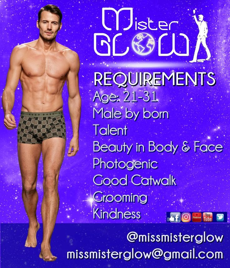 Mister Glow is an International male beauty pageant. No height or marital status required! Welcome to the future! #MisterGlow #MissGlow #MissMisterGlow #InternationalBeautyPageant #Pageant #Miss #Mister #Misses #Pageantry #Glow #Mode