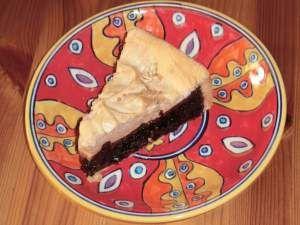 #Hollerkuchen mit #Zimt Baiser