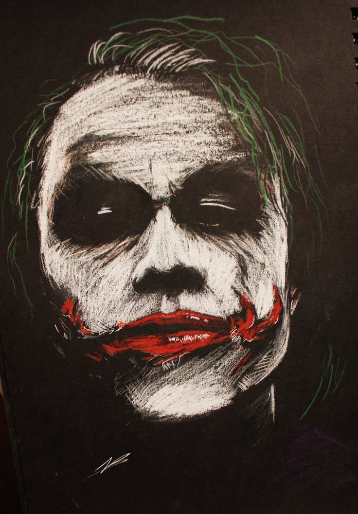 The Joker BW by piratebutl23 on DeviantArt