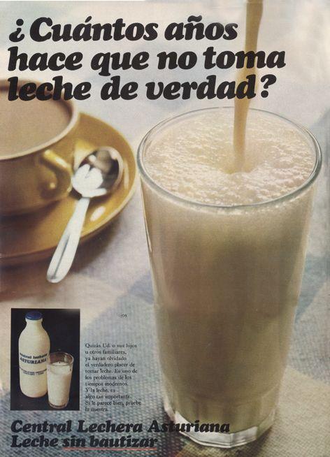Publicidad de Central Lechera Asturiana a principios de los 70