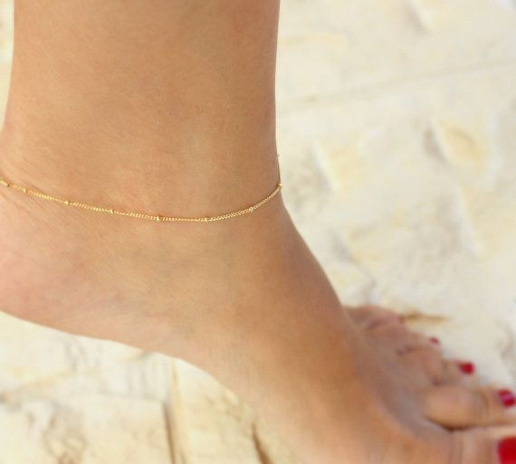 Delicate Gold Anklet  Anklet ankle by JulJewelry on Etsy, $22.00