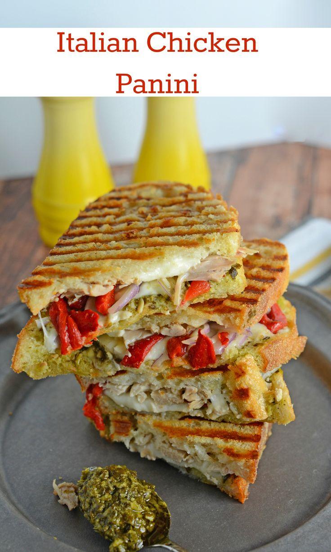 Italian Chicken Panini Recipe - Crusty bread filled with gooey ...