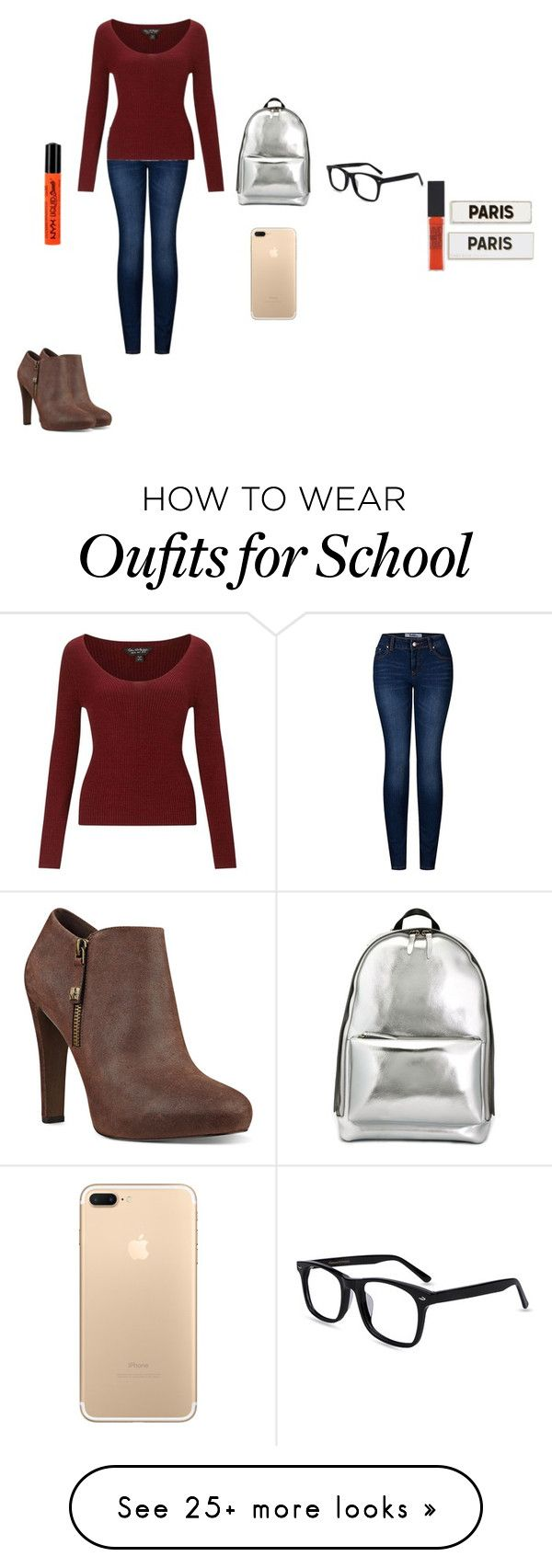 """""""today's a half day of school!"""" by lindsayxoxo2004 on Polyvore featuring 2LUV, Miss Selfridge, Nine West, 3.1 Phillip Lim, NYX, Maybelline and Rosanna"""