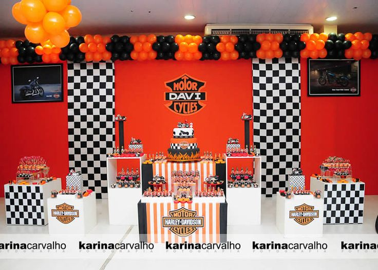 harley davidson party & 36 best Harley Davidson Party Theme images on Pinterest | Birthdays ...