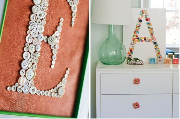 DIY Button projects.: Buttons Decor, Diy Buttons, Crafts Ideas, Buttons Diy, Buttons Crafts, Buttons Letters, Crafts Hobbies, Buttons Art, Buttons Projects