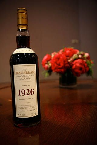 1926 Macallan Fine And Rare: The 1926 Macallan Fine and Rare is one of most expensive whiskeys in the world which is described as dry and concentrated whiskey, with a licorice after-taste. $75,000.