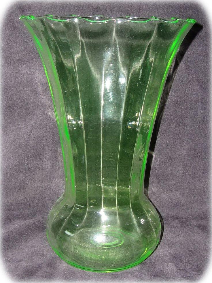 Vaseline Glass Vases