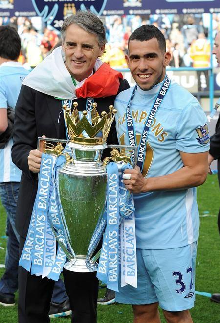 <3 Mancini and Tevez