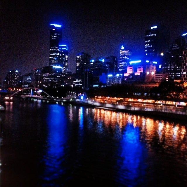 Melbourne's Yarra River and city buildings as seen from St Kilda Road facing west. I am the original photographer: www.instagram.com/lexipippa22