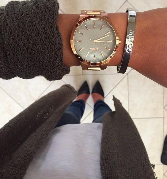Mimco watch, mimco bangle Witner heels