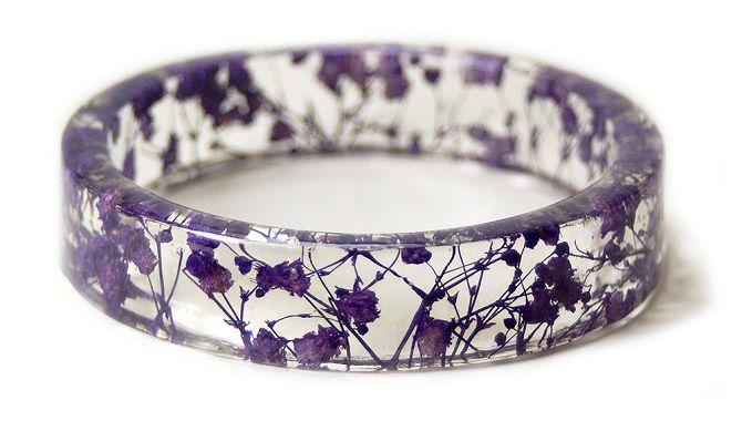 Purple Flower Resin