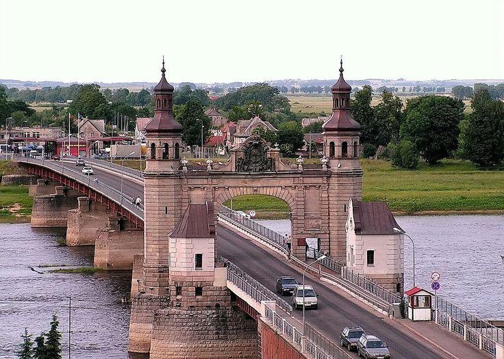 Мост Королевы Луизы(граница Россия-Литва,г.Советск,Калининградская обл.)