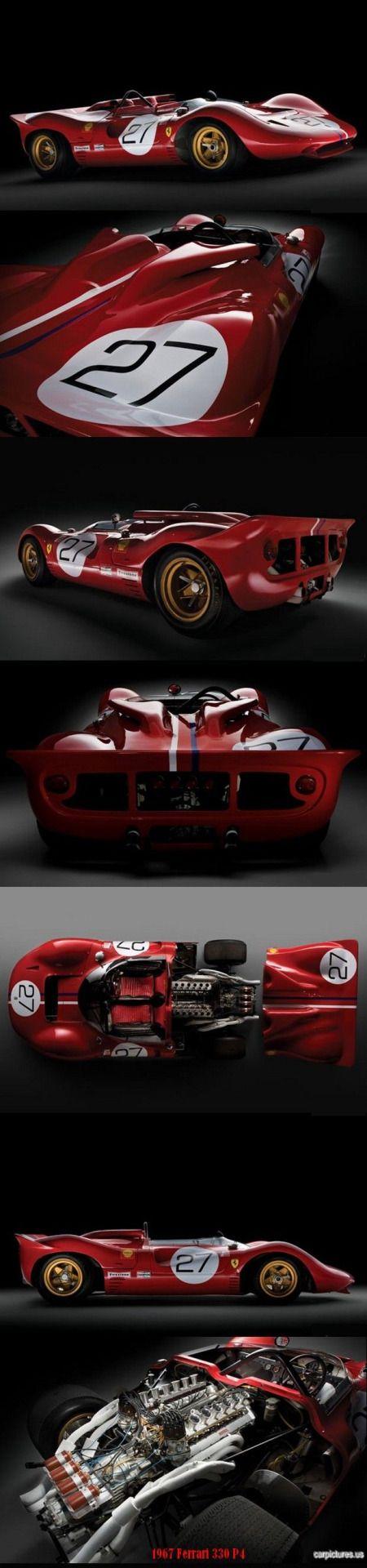 Furniture of america clint twin metal race car bed in red - 1967 Ferrari 330 P4 Race Carssports