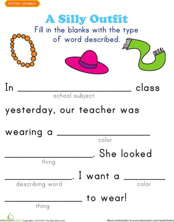 worksheets fill in a funny story 2 summer home school pinterest simple sentences simply. Black Bedroom Furniture Sets. Home Design Ideas
