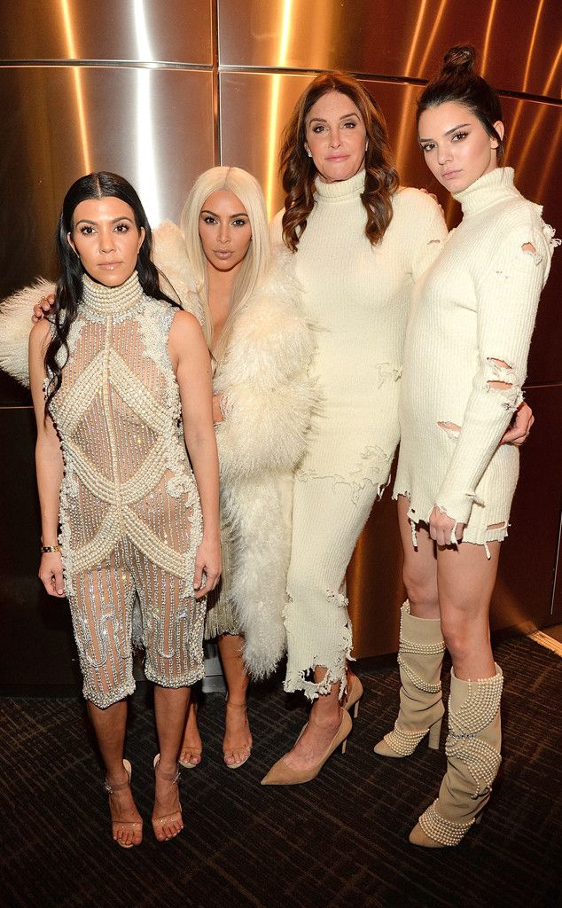 Kim Kardashian and Her Famous Family Are Showstoppers in Their Custom Yeezy 3 Outfits During Kanye West's Show | E! Online