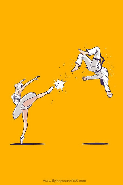 Swan Kick (iPhone Wallpaper) by Flying Mouse