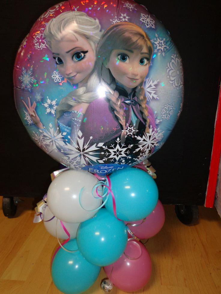 Frozen balloon column make it yourself so easy for Frozen balloon ideas