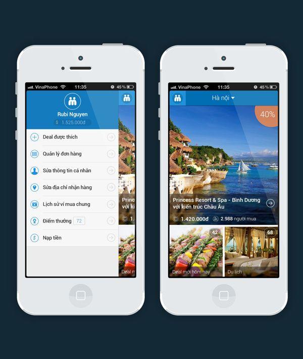 Muachung.vn - Mobile Application - Flat Design by Rubi Nguyen, via Behance