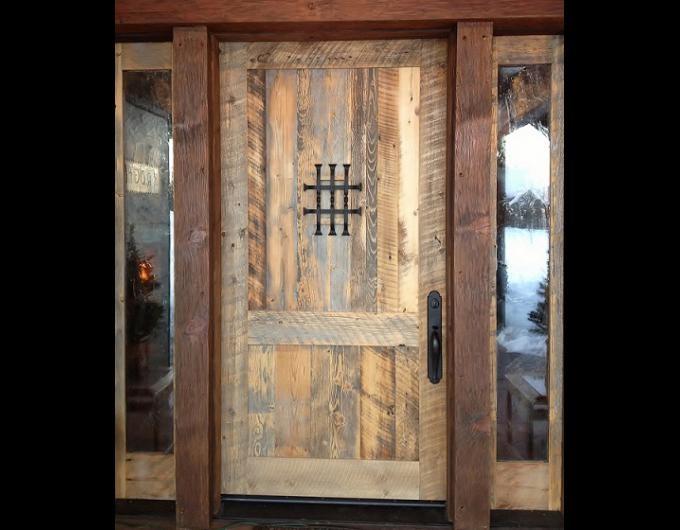 4x8 two panel door speakeasy and sidelites & 23 best Reclaimed Doors images on Pinterest | Reclaimed doors ...