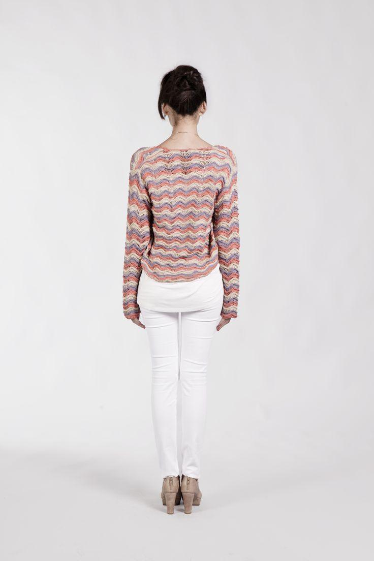 Short Cardigan. 100% crochet. 100% Organic Cotton