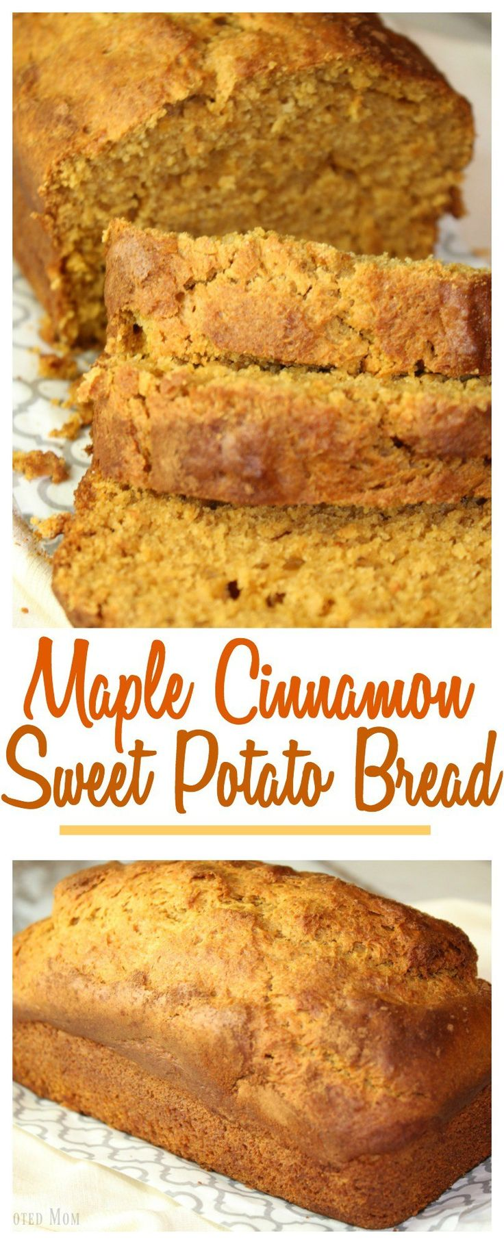 This Maple Pecan Sweet Potato Bread is perfect for breakfast OR for lunch. The subtle flavor of cinnamon, ginger and maple wrapped into one loaf.