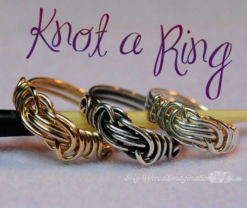 Jewelry Tutorial - Knot a Ring - All Wire Ring - PDFWire Jewelry, Ideas, Jewelry Tutorials, Rings Tutorials, Knots Rings, Wire Rings, Knot Rings, Wire Wraps, Wire Knots
