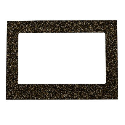 #Dark gold glitter magnetic picture frame - #gold #glitter #gifts