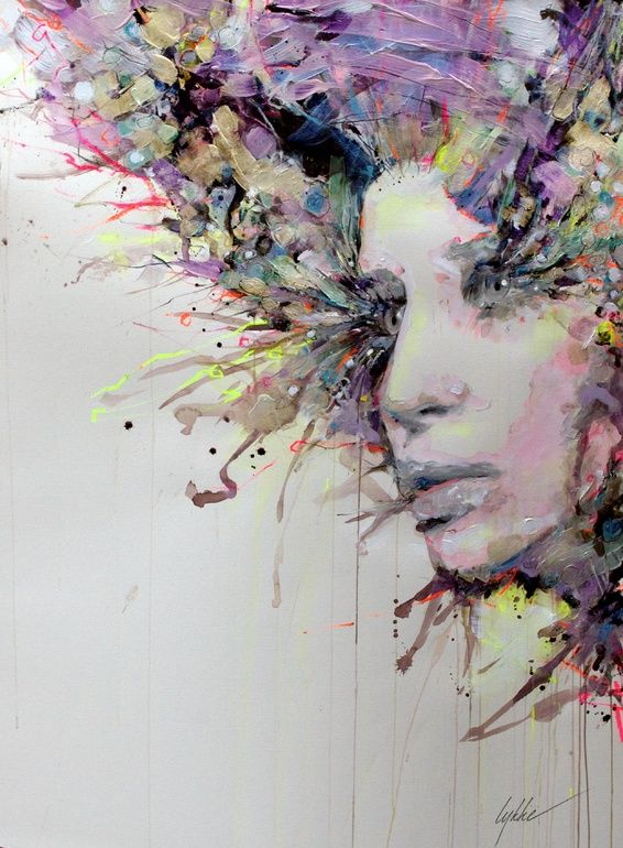 "Saatchi Online Artist: Lykke Steenbach Josephsen; Mixed Media, 2013, Painting ""The Seeker"" #LykkeJosephsen"