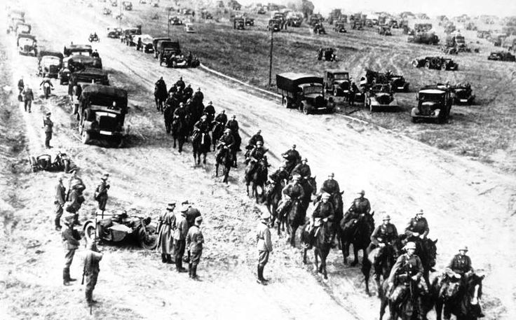 September 3,1939 - GERMANY INVADES POLAND:   The German army rolls its cavalry into Poland, Sept. 3, 1939.