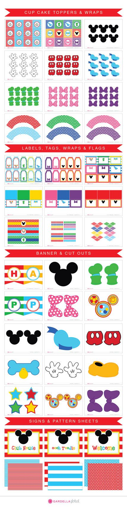 Instant Download Mickey mouse Party Mickey mouse von GardellaGlobal