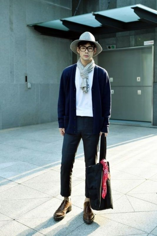 2ccf579d7ed 9 Fashion Style Tips For Teen Guys. Navy cardigan