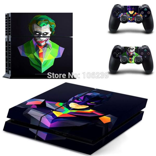 Batman PS4 console and controller decal skin collection, sticker. Playstation