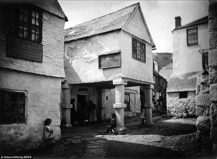MOUSEHOLE (1890s) | Cornwall: 'The Gibson's vast family archive, including this image of Mousehole in the 1890s, was inherited by their descendants and split into several collections to be sold.'     ✫ღ⊰n